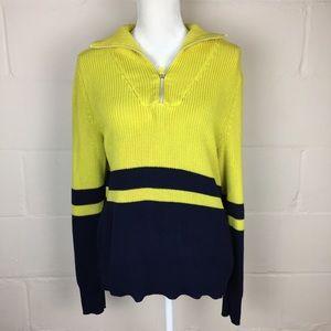 ralph lauren active vintage knit sweater stripe L